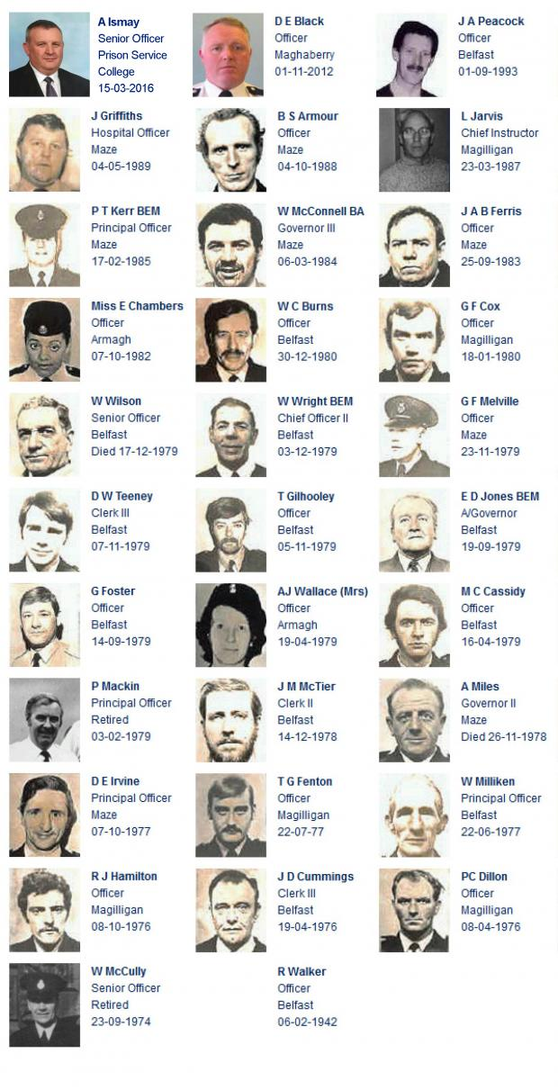 Northern Ireland Prison Service Roll of Honour