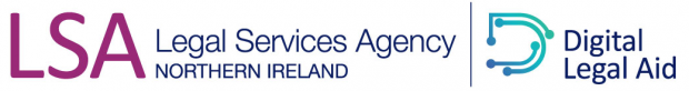 The logo for the Legal Services Agency Northern Ireland digital services