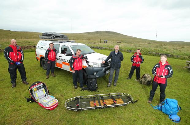 Members of the northern ireland search and rescue team