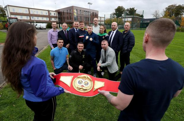 A new boxing work-out programme has been launched at Hydebank Wood College to help improve students' fitness and mental health.