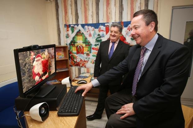 Zoom visits for prisoners on Christmas Day are to take place for the first time ever in Northern Ireland this year. Ronnie Armour, Director General of the NI Prison Service, and Richard Taylor, Magilligan Prison Governor, are pictured in one of the specia