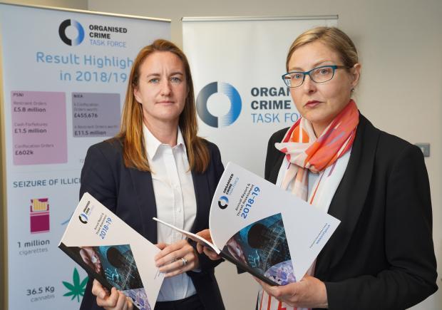 Detective Superintendent Rachel Shiels and DoJ representative