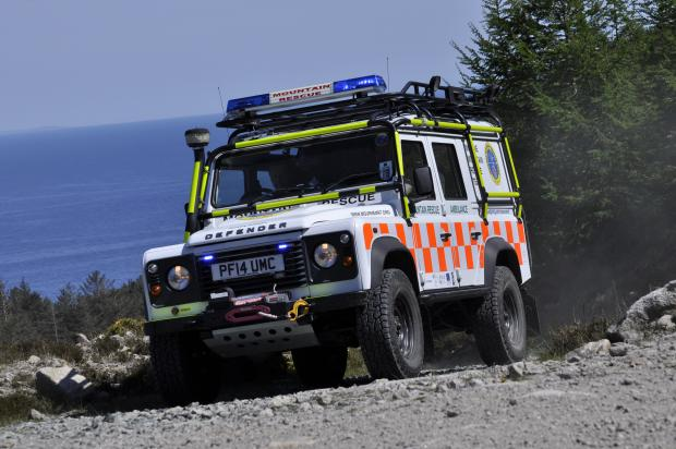 NI Search and Rescue vehicle